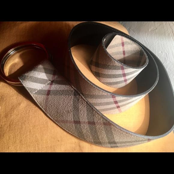 Burberry Accessories - Burberry adjustable ring belt